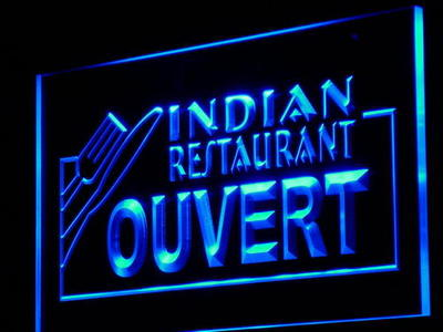 j198-b OUVERT Indian Restaurant Cafe LED Neon Light SignWholeselling Dropshipper(China (Mainland))