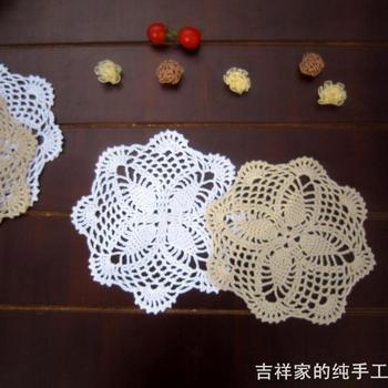 Free shipping IKEA design 12 pic/lot 18 cm round felt as kitchen accessories swastika for innovative item  for tea table mat 2