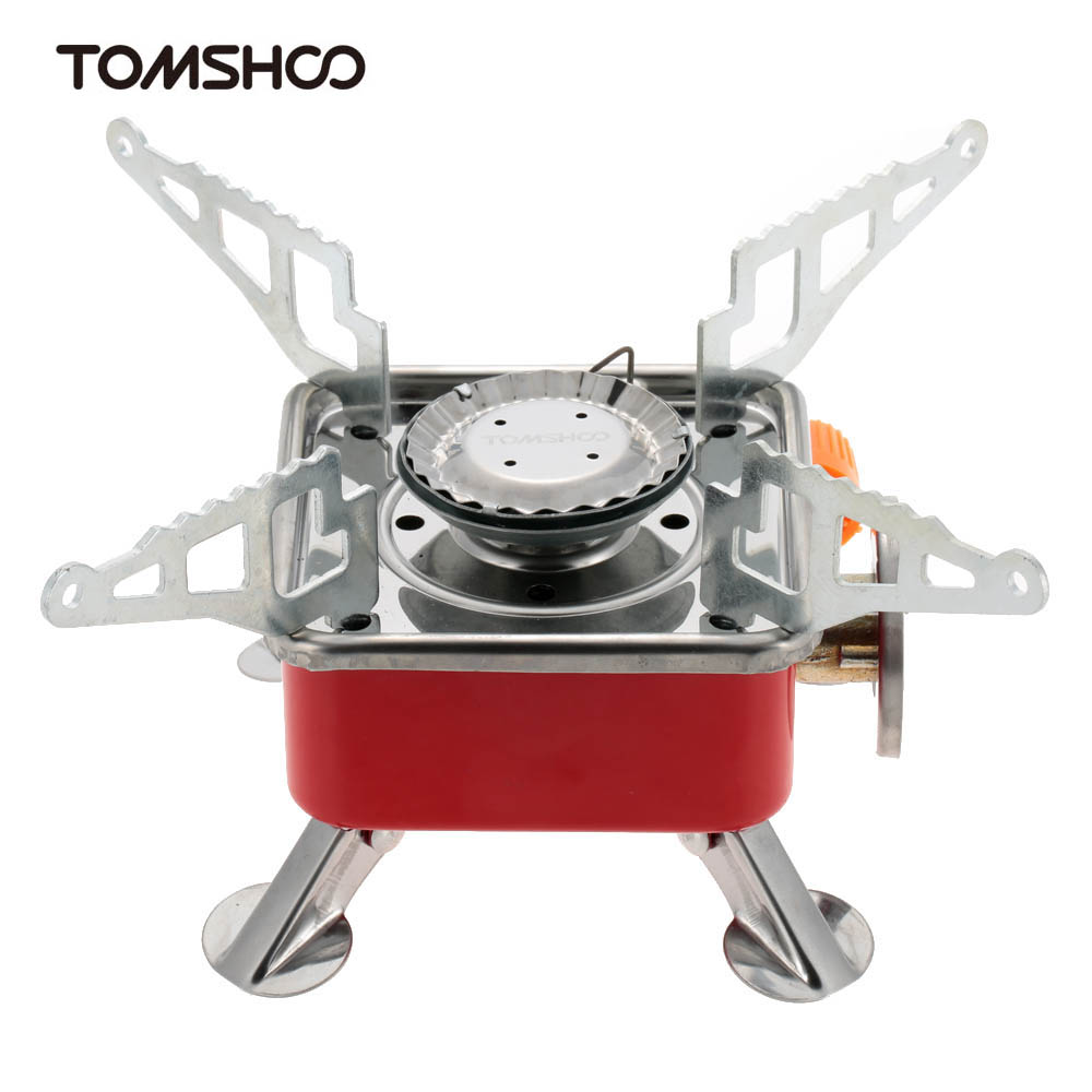 TOMSHOO Portable Butane Stove Outdoor Backpacking Picnic Camping Stove Foldable Gas Burner(China (Mainland))