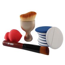 Paradise Hot New high quality 10pcs Makeup Brush Makeup Sponge Makeup Foundation Brush Free Shipping Jul27