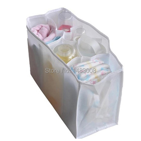 Portable Travel Outdoor Baby Diaper Nappy Organizer Stuffs Insert Storage Bag BS High Quality(China (Mainland))