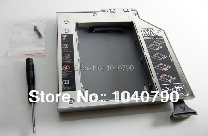 SATA 2nd HDD Hard Drive caddy for DELL D600 D610 D620 D630 D800 D810 D820 D830(China (Mainland))
