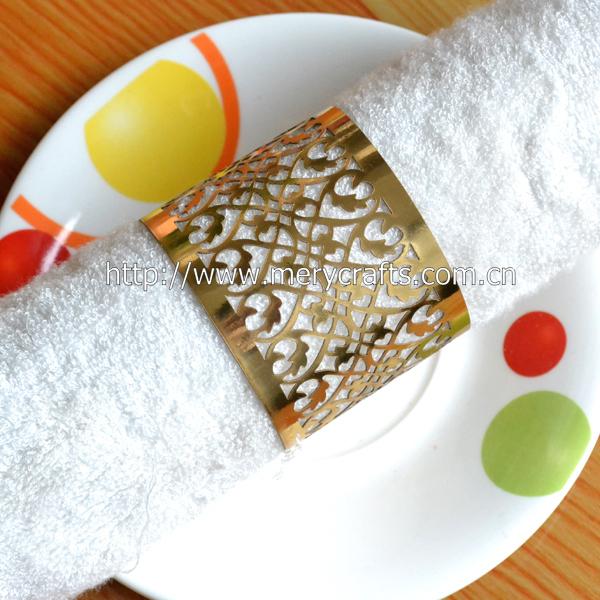 make decorative napkin rings handmade napkin rings ,paper gold napkin rings for wedding(China (Mainland))