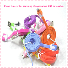 1M/2M/3M Flat Micro Usb Cable 2.0 Data Sync Cable For Samsung Galaxy For HTC For Sony For Blackberry Cell Phones Free shipping