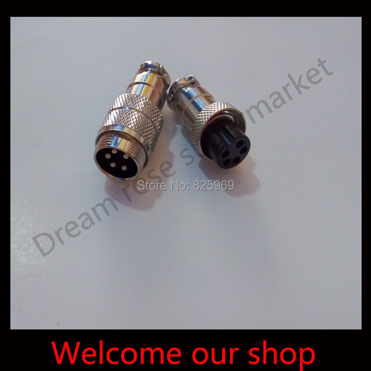 Free Shipping 10 sets 5 Pin 16mm Male &amp; Female Butt joint Connector kit GX16 Socket+Plug, Aviation plug interface<br><br>Aliexpress