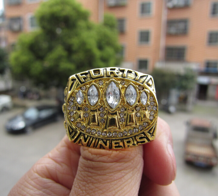Free Shipping 1994 San Francisco 49ers Super Bowl Championship Champions Ring solid sport men football ring wholesale(China (Mainland))