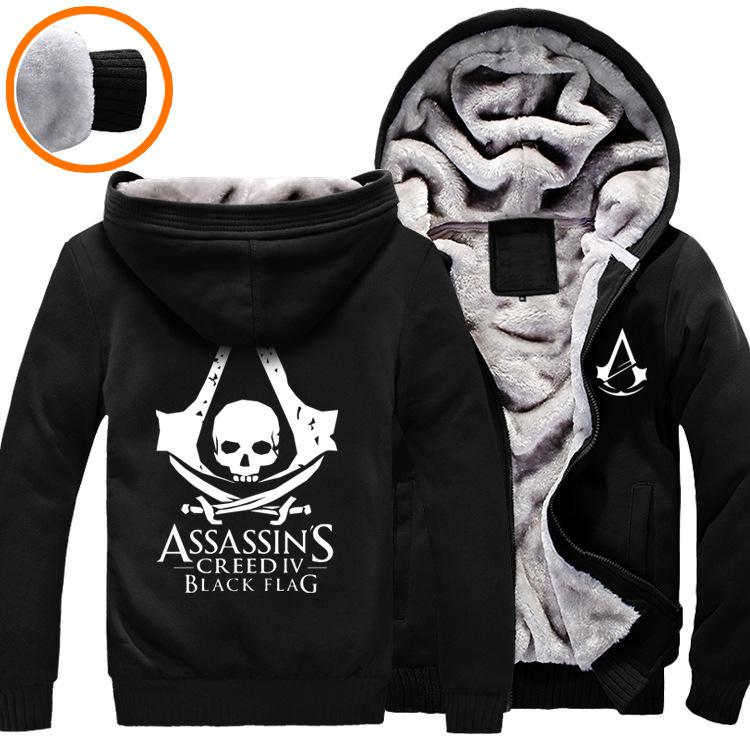 Assassins Creed 3 III Conner Kenway Men Hoodie Jacket Anime Cosplay Assassin's Costume Cosplay Coat Novelty Sweatshirt Overcoat