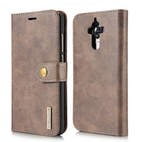 Mate 9 Carcasa DG.MING 2 In 1 Genuine Leather Wallet Cover For Huawei Mate 9 Mate9 Capa Magnetic Flip Case Card Bags Phone Cases