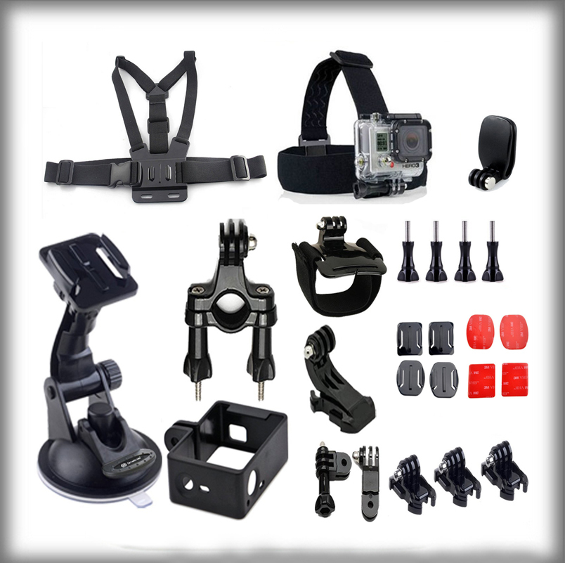 2015 Gopro Accessories Kit for Gopro HD Hero 3+/3/2/1 Camera Gopro mount chest strap suction cup gopro mount Frame Housing<br><br>Aliexpress