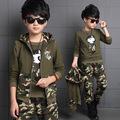 4 5 6 7 8 9 10 11 12 13 years Boys Autumn camouflage clothing set