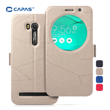 CAPAS Case for ASUS Zenfone Go TV 5.5 ZB551KL Leather Cover Stand Flip Case Sleep Wake View Window Protective Shell Shockproof(China (Mainland))
