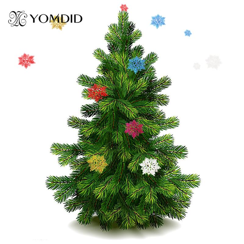6 Pcs Christmas Snow Flakes 6 Colors Snowflake Ornaments Christmas Tree Decoration Home Decor Party Festival Nieve de la Navidad(China (Mainland))