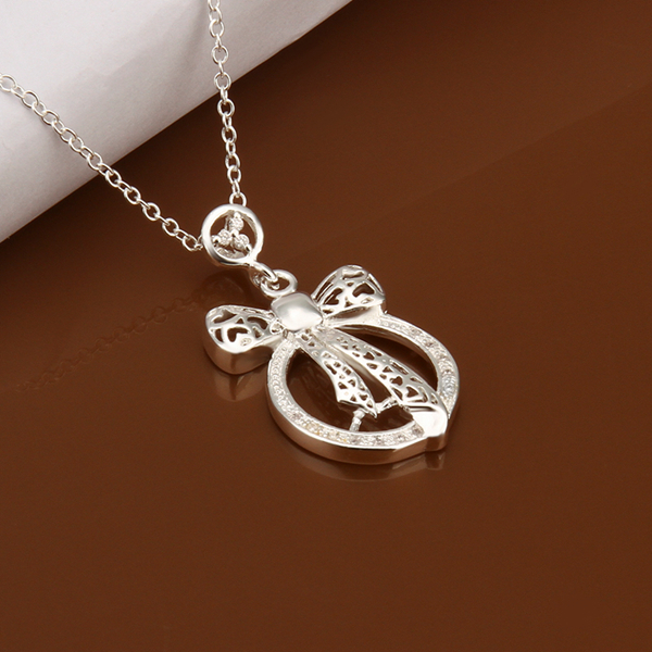 Hot Sale 925 Silver Necklaces Fashion Jewelry Inserts Pendant Necklace Free Shipping vtb(China (Mainland))