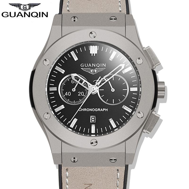 Watches Men Luxury Brand GUANQIN Fashion Rubber Strap Quartz Watch Waterproof Military Watch Casual Sports Wristwatch Relogio<br><br>Aliexpress