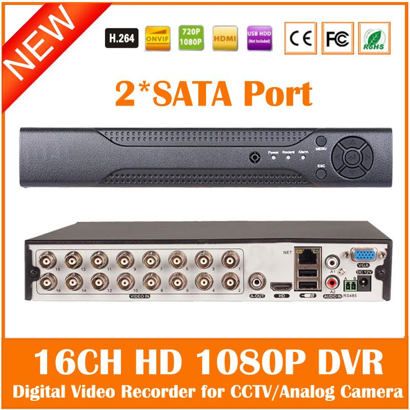 High Performance 16CH 2 SATA Port HD Surveillance CCTV DVR HDMI VGA 1080P Digital Video Recorder for Analog CCTV Camera(China (Mainland))