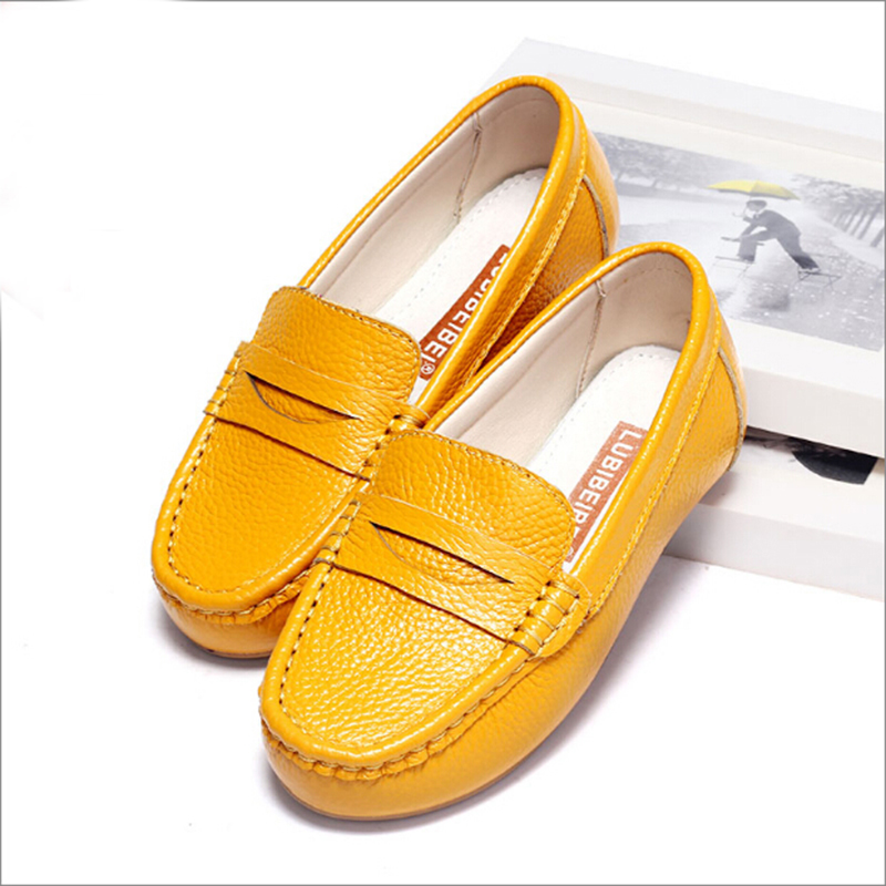 2016 New Boys &Girls Leather Shoes Baby Moccasins kids Shoes Loafers Sneakers Fashion Moccasins Kids Boat Shoes Soft Shoes(China (Mainland))