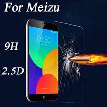 for Meizu mx2 MX3 MX4 MX5 MX6 pro 5 6 M2 M3 NOTE tempered glass screen protector 0.3mm 2.5D 9H hardness protective film case