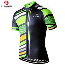X-TIGER Cepat Kering Polyester 100% Bersepeda Jersey Musim Panas Gunung Sepeda Pakaian Maillot Sepeda Pakaian Ciclismo Jerseys 2019(China)
