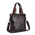 ZIRANYU Men Handbag Crocodile Grain Genuine Leather briefcase Business Messenger Bag Shoulder Bags delicate ad luxurious