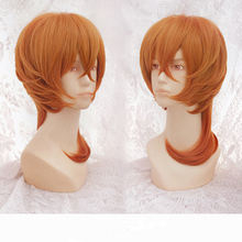 2016 April New Design Bungo Stray Dogs Nakahara Chuuya 35cm Short Orange Full Lace Heat Resistant Cosplay Wig with Wig