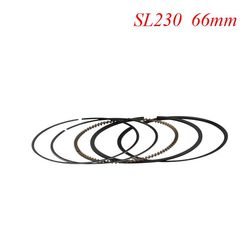Motorcycle Piston Rings Set For Honda SL230 +50 Oversize Bore Size 66mm NEW(China (Mainland))