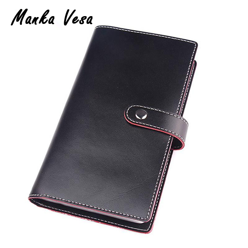 2015 Candy Color Women Men Leather Business Card Holder Id Credit Pocket 102 Clips Pack Bus Bank Credit ID Cards Bag Cardholders<br><br>Aliexpress