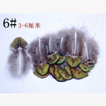 20Pcs/lot Golden natural peacock wing feather 6# 3-6cm Making bulk sale For clothing/shoes/hat decoration/cosplay Free shipping(China (Mainland))