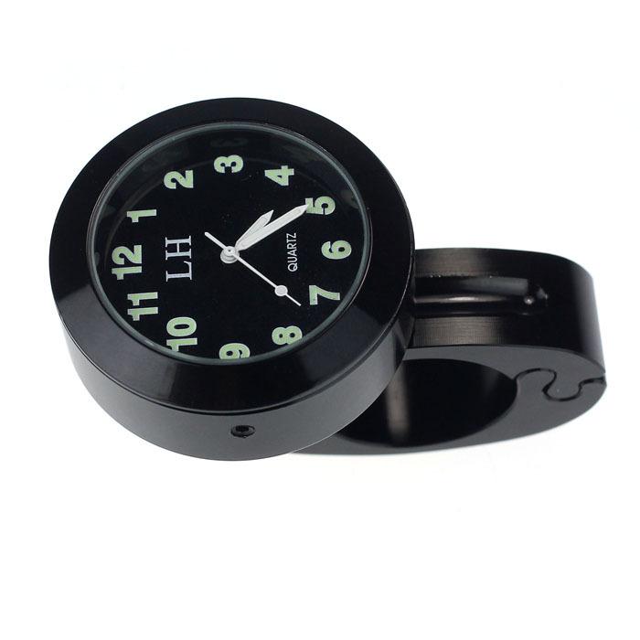Hot Sale Motorcycle Accessory Handlebar Mount Clock Watch Waterproof Black/Silver/Gold(China (Mainland))