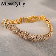 Buy MissCyCy 2016 New Fashion Indian Jewelry Rhinestone Bling Gold Color Silver Colors Bracelets Women for $1.13 in AliExpress store