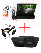Wireless Colo CCD Chip Car Rear View Camera for AUDI A3 S3 A4 S4 A6 A6L S6 A8 S8 RS4 RS6 Q7 + 4.3 Inch foldable LCD TFT Monitor(China (Mainland))