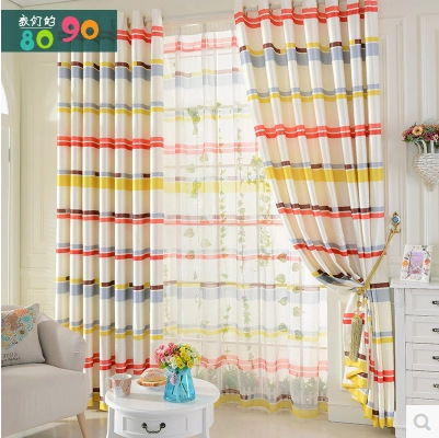 Modern curtain clean geometric modern manufactured curtains fabric living room curtain luxury curtain bedroom bar(China (Mainland))