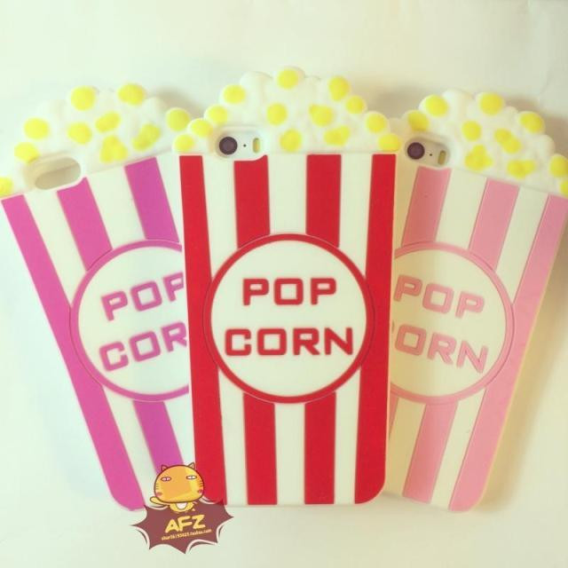 Popcorn Phone Case for iPhone 5s 5,3D Vivid Silicon Pop Corn Looks,Soft Phone Cover free shipping(China (Mainland))