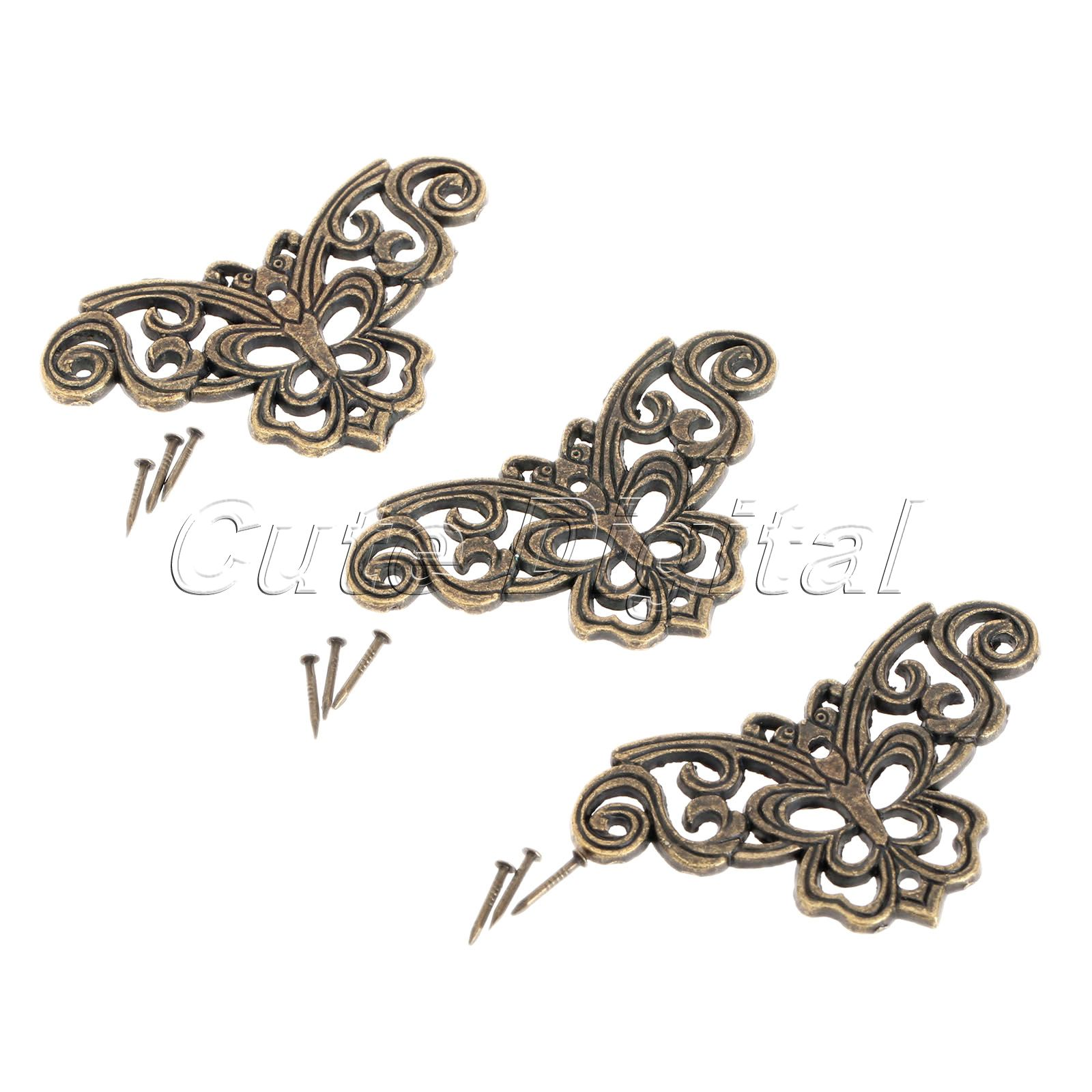 12pcs Metal Decorative Corner Bracket For Furniture Wooden Box Feet Protector Ings In Brackets From Home