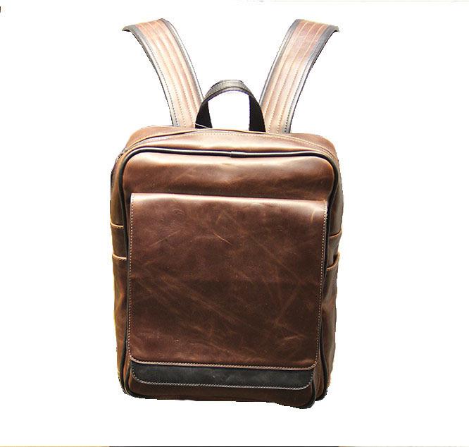 2015 Women Men PU Leather Backpack High Quality Korea Style School