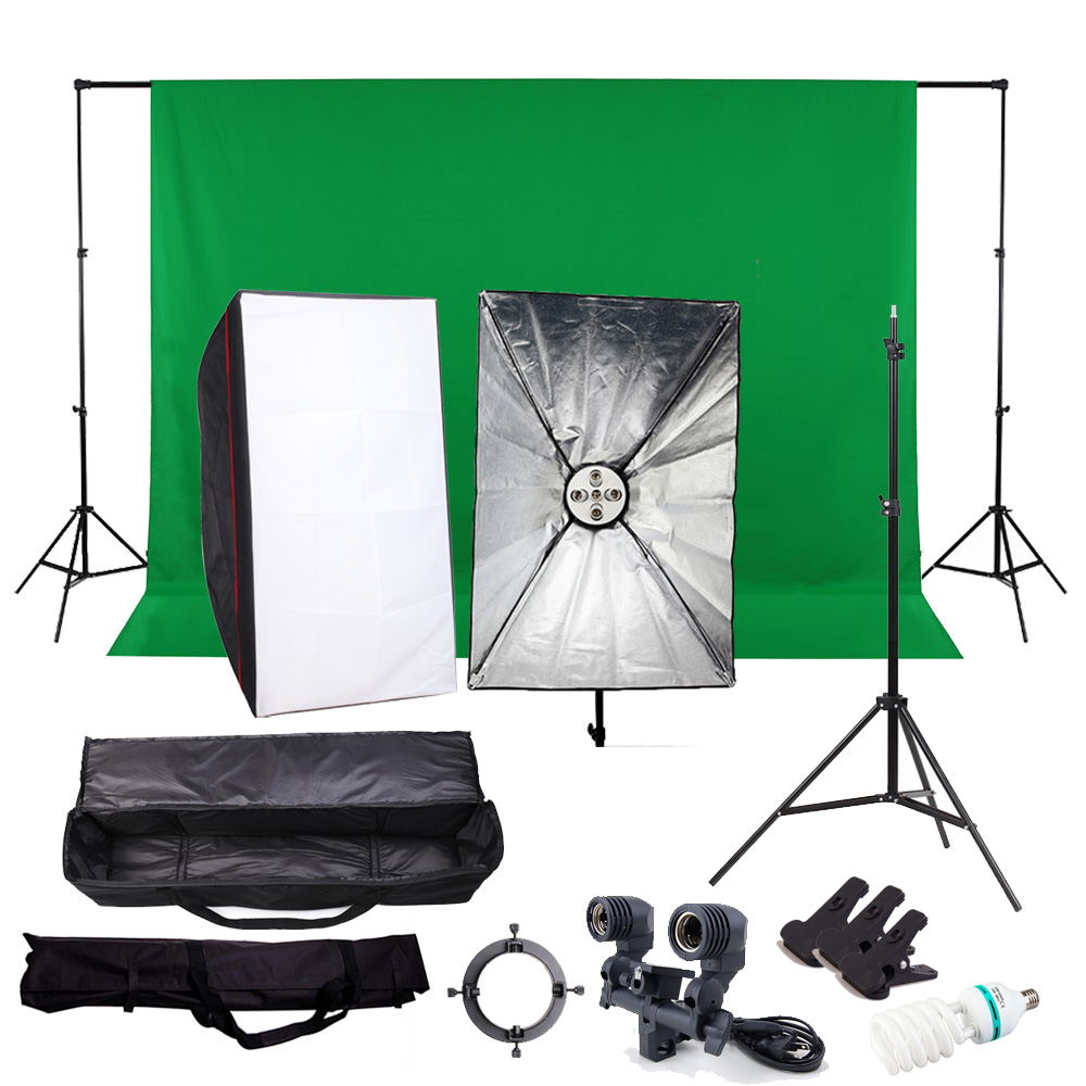 2000W 5 Socket Head 60x90 Softbox Continuous Lighting Kit Studio Video By DHL free shipping PSK9A