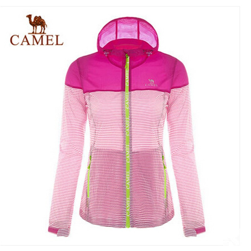 Camel 2015 Outdoor Women Skin Coat Sunshade Light-weight Hooded Thin Jacket 2 Colors S-XL High Quality Authentic Spring Summer<br><br>Aliexpress