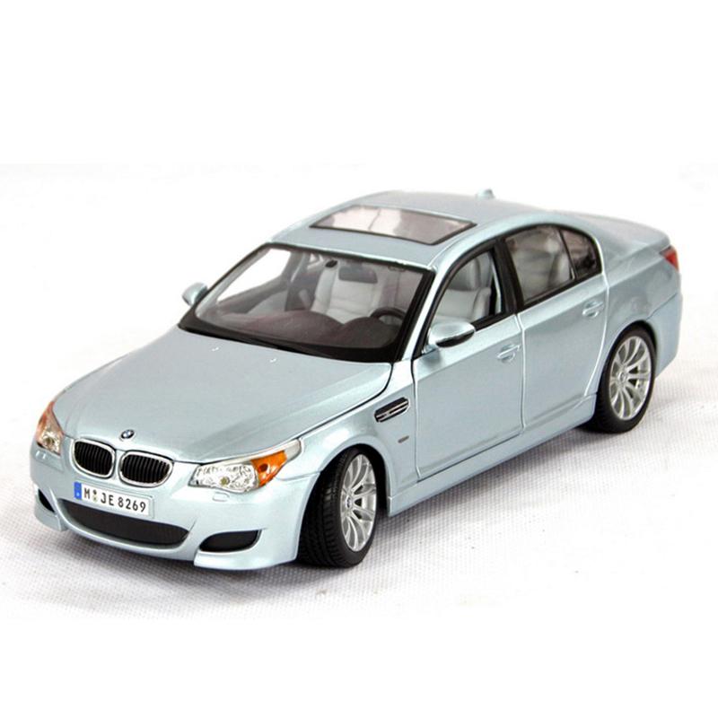 Maisto1:18 diecast Car E60 M5 5 Series Light blue 1:18  Diecast Car Model Toy Vehicle Car Model Maisto Models Kids Car Toys gift<br><br>Aliexpress