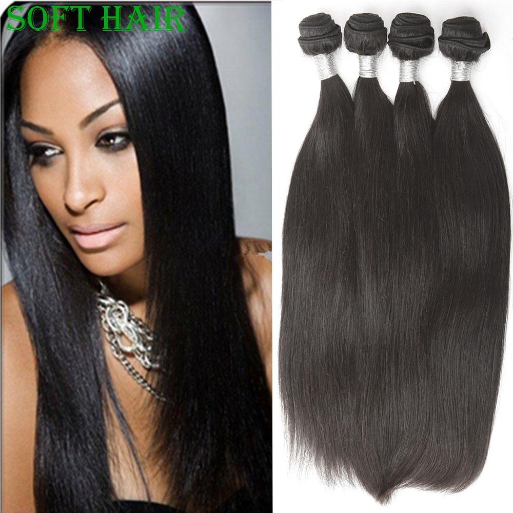 8A Hot Sale Malaysian Virgin Hair Straight Human Hair Weave Top Quality And Cheap Virgin Hair Soft Hair Product 4Bundles(China (Mainland))