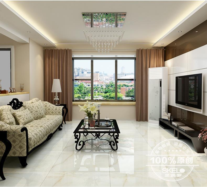 Tile White Jade Tile Living Room Anti Fouling Floor Tile Polished Glazed 800x800 Porcelain Floor