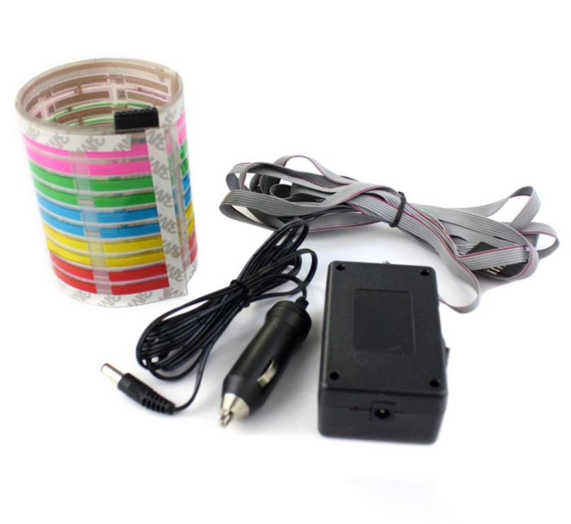 Hot selling 45x11CM Car Sticker Music Rhythm LED Flash Light Lamp Sound Activated Equalizer(China (Mainland))