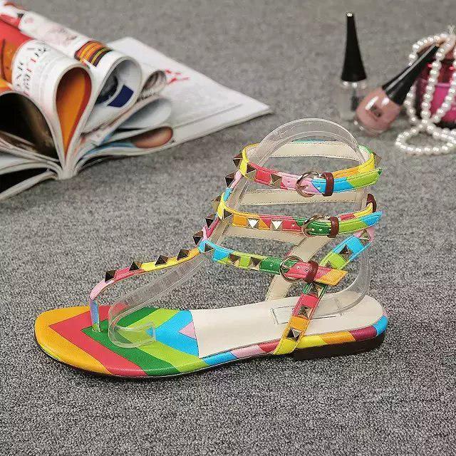 2015 brand flip flop mixed colors rainbow summer sandals shoes women rope heels tb sandals compensees femme chanclas cc sandals<br><br>Aliexpress