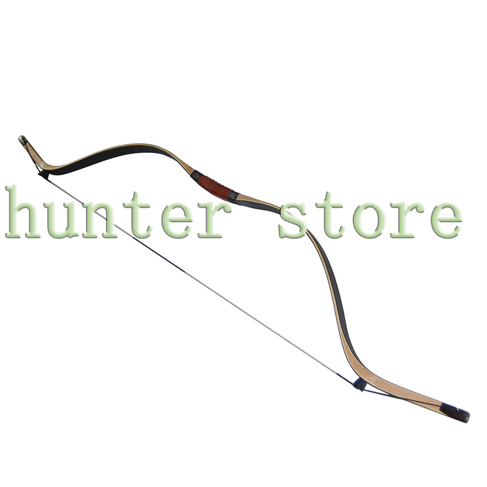a imported laminating wooden fiberglass black archery recurve bow 59'' for left hand or right hand 35lbs(China (Mainland))
