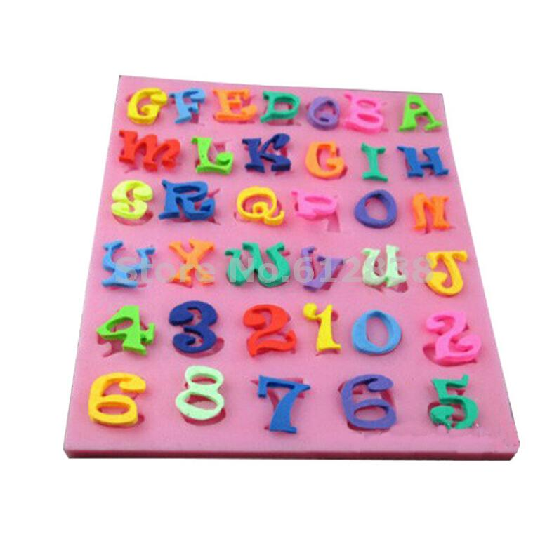 Free shipping 1piece Newest Silicone Fondant Alphabet Mold Letter Cake Decorating Mold,Liquid Silicone Mold C086(China (Mainland))