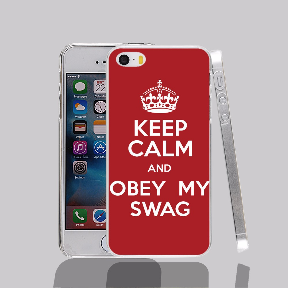 12783 keep calm obey my swag Cover cell phone Case for iPhone 4 4S 5 5S 5C SE 6 6S Plus 6SPlus(China (Mainland))