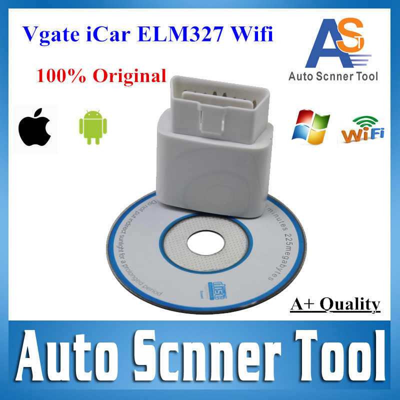 100% Original Vgate iCar ELM327 Wifi Support OBD2 OBDII Diagnostic Scanner Wifi iCar ELM327 Work For Android PC iPhone iPad Car(China (Mainland))
