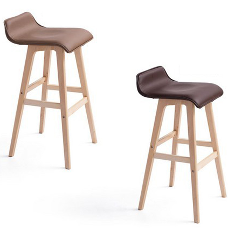 Hot,100% wood Bar chair,pure cotton cloth,pastoral style bar chair,leisure style,Multiple color choices,Wood Bar furniture(China (Mainland))