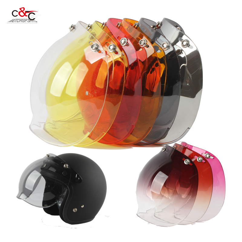 3-snap vintage retro motorcycle helmet bubble shield visor shield glass lens ls2 beon Torc Gxt shoei open face helmet visor(China (Mainland))