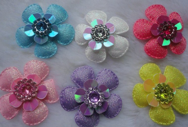 Free shipping scrapbooking,Clothing accessories,ribbon flowers,lace flower,4cm cotton flower,cloth paste decorative flowers