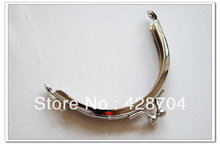 30pcs 8cm half round silver coin purse frame from purse supplies wholesale(China (Mainland))