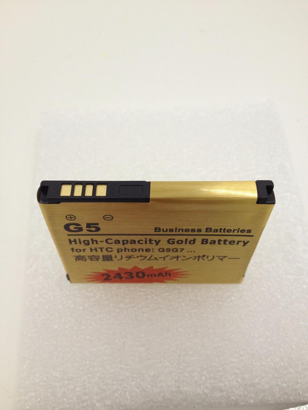 2430mAh Gold Battery For HTC Desire A8181 G5 Google Nexus One G7